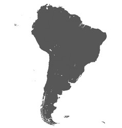 territory south america continent white vector image