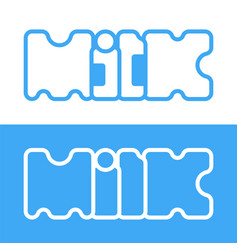 Text milk product logo vector