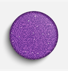 The circle glass banner purple sequins background vector
