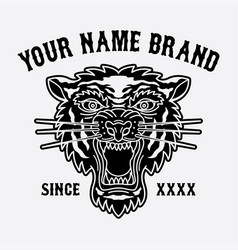 Tiger head logo for clothing vector