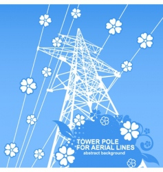 Tower pole vector