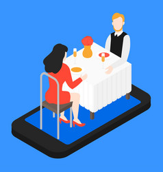 valentines day romantic date in the restaurant vector image