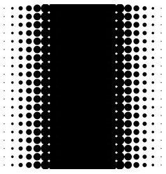vertical half tone pattern with dots - monochrome vector image