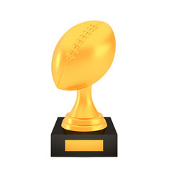 winner american football cup award on stand vector image