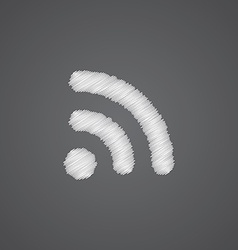 Wireless sketch logo doodle icon vector image