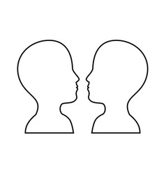 women and man head vector image