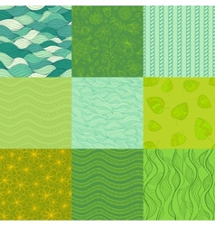 Abstract patterns Collection vector image vector image
