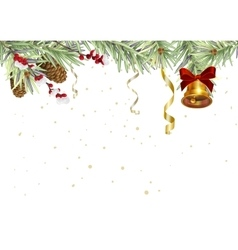 Background for Christmas card Spruce branches and vector image vector image