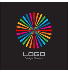Colorful Bright Rainbow Circle Logo vector image vector image