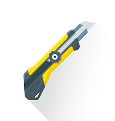 flat construction stationary knife icon vector image vector image