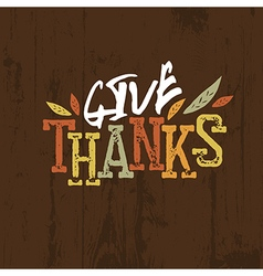 Happy Thanksgiving design For holiday greeting vector image