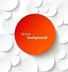 Red paper circles with drop shadows vector image vector image