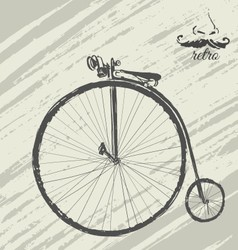 Retro cycle background vector image