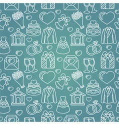 seamless pattern with wedding icon vector image vector image