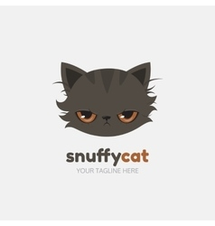 Snuffy cat logo template vector image vector image
