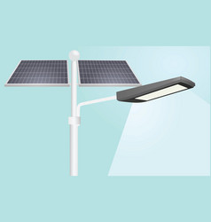 street lights solar panels vector image vector image