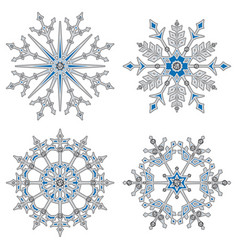 white volume snowflake vector image vector image