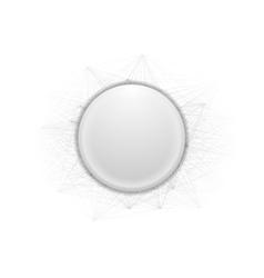 Abstract grey circle and lines vector image vector image