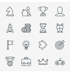 Business fun game or gamification icons vector image vector image