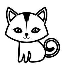 cat small mammal furry outline vector image vector image