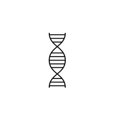 dna solid icon medical element and genetic sign vector image vector image