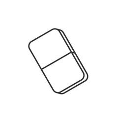eraser line icon vector image