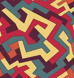 retro curve seamless pattern vector image