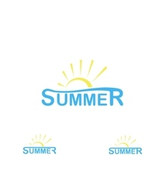 summer logo on a white background vector image