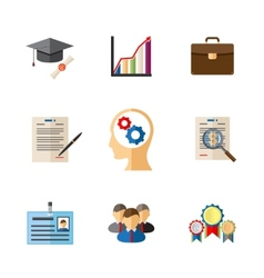 Business career colored icons vector