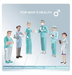 cartoon doctors set vector image