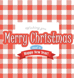 Christmas greeting red card vector image vector image