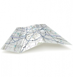 folding map vector image
