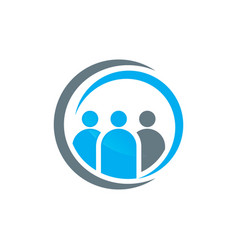people group logo design vector image