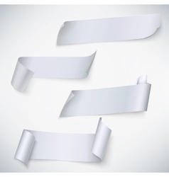 Set of paper banners vector image