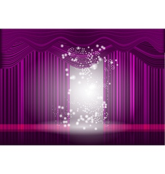 violet theatre stage curtain vector image vector image