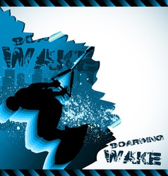 wakeboarder vector composition vector image vector image