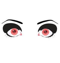 beautiful pink eye vector image