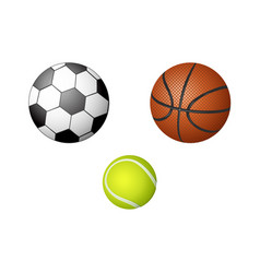 cartoon sport equipment set vector image