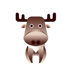 cute brown deer stylized geometric animal low vector image vector image