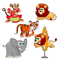 Funny circus animals vector image