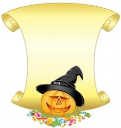 pumpkin sign vector image