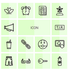 14 icon icons vector image