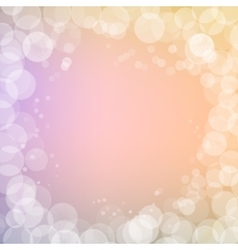 Abstract bokeh sparkles frame on blurred vector image