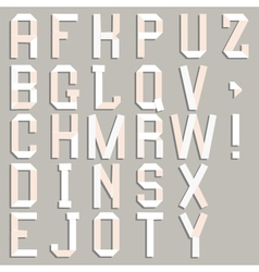 Alphabet cut out of paper vector