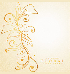beautiful golden floral background vector image