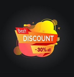 Best discount 30 percent off banner with sale vector