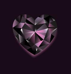 black diamond on dark vector image