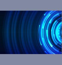 blue circle digital radar abstract sheet layer bac vector image