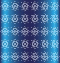 Blue Floral Luxury Ornamental Pattern Background vector