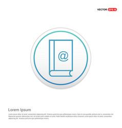 book icon - white circle button vector image